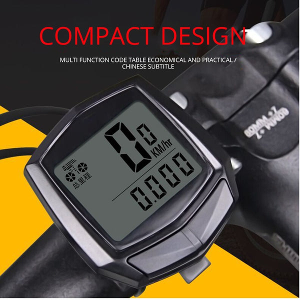 Bike Computer Waterproof Wired Multifunctional Bicycle LCD Computer Speedometer Cycling Accessories Durable Stopwatch