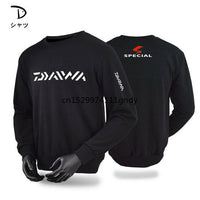2020 New Men Fishing Clothing Long Sleeve Outdooe Breathable DAIWA T Shirts Plus Size Fishing Clothes Sports Cashmere Tee