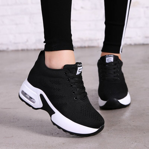 NAUSK 2019 New Platform Sneakers Shoes Breathable Casual Shoes Woman Fashion Height Increasing Ladies Shoes Chaussure Femme