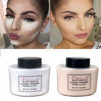 1Pc Natural Face Makeup Smooth Long-lasting Loose Powder Oil Control Waterproof Finally Cover Mineral Fixed Make Up Powder TSLM1