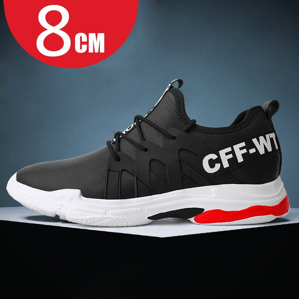 Men Sneakers Heightening shoes Elevator Shoes Height Increase Shoes for Men Height Increase 8CM White Shoes Black Shoes
