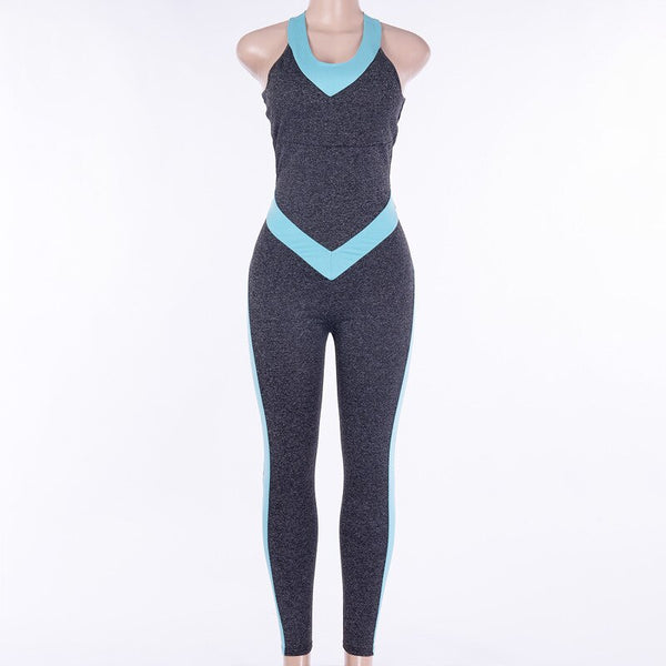 GXQIL Backless Jumpsuit for Yoga Fitness 2020 Gym Sportswear Woman Sports Clothing Workout Clothes Women Tracksuit Active Wear