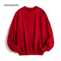 MOINWATER Women Casual Sweatshirts Lady New Streetwear Hoodies Female Terry White Black Hoodie Tops Outerwear MH2002