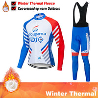 2020 FDJ Pro Team Winter Cycling Clothing Breathable Ropa Ciclismo Long Sleeve MTB Bicycle Clothing Outdoor Sport Clothes