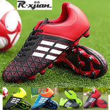 R.XJIAN brand children's adult spiked football shoes broken nails football training shoes couple football shoes 31-44 size