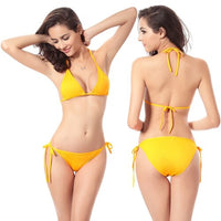 Sexy Mini Bikinis Ladies Strappies Bandage Two Piece Removable Padded Bikini Swimwear Women Thong Bikini Woman Sexy Bathing Suit