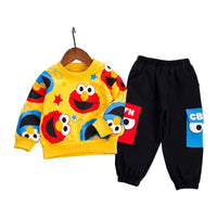 Spring Baby Boys Girls Casual Clothes Kids Cartoon T-Shirt Pants 2Pcs/Sets Infant Cotton Clothing Set Children Fashion Tracksuit