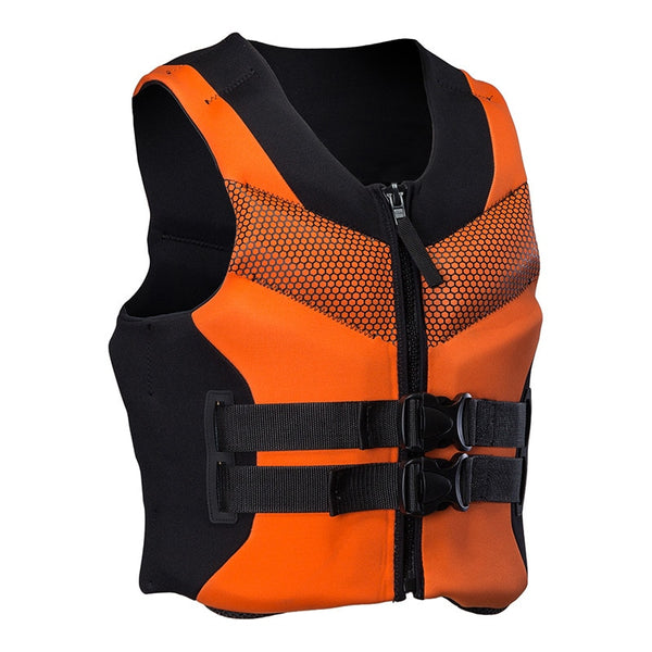 Men's Women's Life Vest Water Sports Neoprene Life Jacket for Swimming, Sailing, Boating, Kayak, 4 Colors size L-4XL Adult