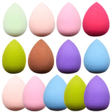 Water Drop Shape Makeup Puff Multiple Colors Cosmetic Smooth Powder Beauty Basic Products Sponge Clean Makeup Tool MZS1004