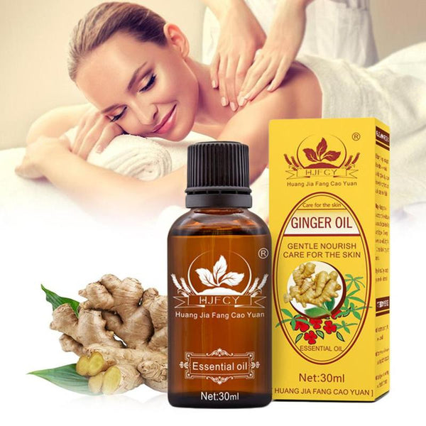 Massage Oils Anti Aging Natural Plant Ginger Therapy Essential Oils Lymphatic Drainage Ginger Oil Body Care 30ml