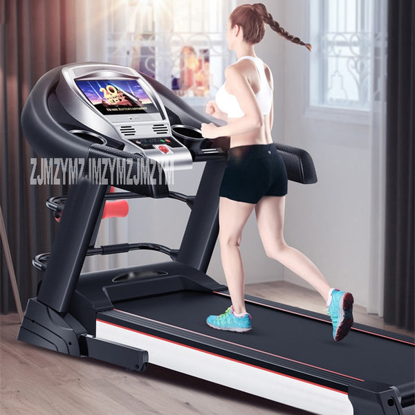 10.1 inch Treadmill Wifi Color Folding Multifunctional Indoor Electric Treadmill Small Family Super Quiet Fitness Equipment T900