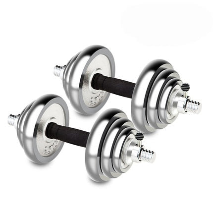 1pair 20kg Electroplated dumbbell men's fitness set home fitness equipment detachable