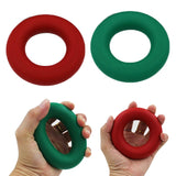 Silicone Grip Ring Exerciser Eco-friendly Silicone Muscle Exerciser Strength Finger Grip Hands Wrists Power Fitness Equipment