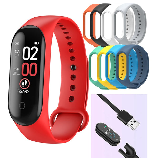 M4 Sport Smart Band Smart Watch  Blood Pressure Monitor Smart Wristband Smartwatch Bracelet m4 Wristband for Men Women dropship