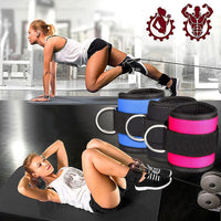 2019 New D-ring Ankle Strap Buckle Adjustable Ankle Weights Gym Leg Ankle Cuffs Power Weight Lifting Fitness Rope