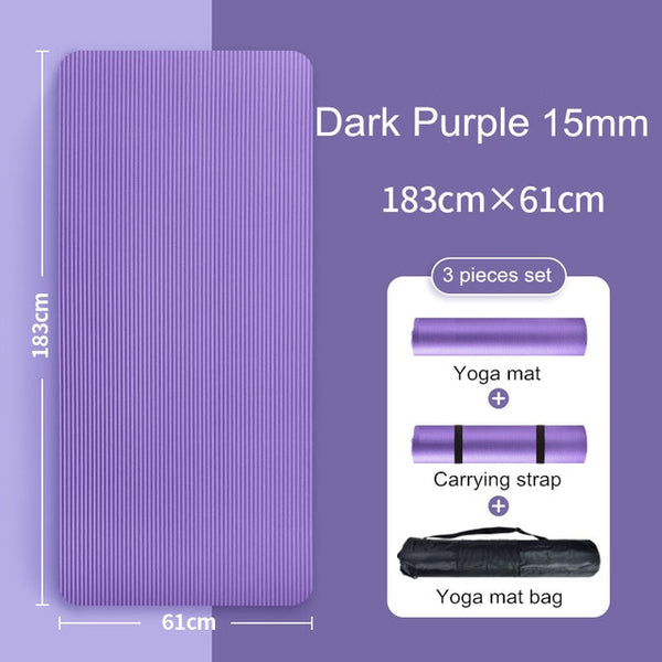10MM 15MM Yoga Mat NRB Non-slip Mats For Fitness Extra Thick Pilates Gym Exercise Pads Carpet Yoga Pad Esterilla Tapete Mat 127A