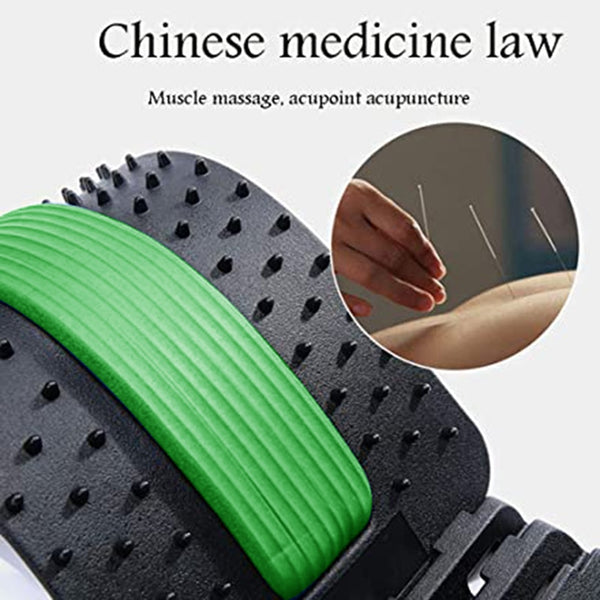 2020 Back Stretch Equipment Massager Massageador Magic Stretcher Fitness Lumbar Support Relaxation Spine Pain Relief