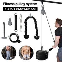 Household Triceps Trainer Set Fitness Pulley Cable Machine Arm Muscle Biceps Triceps Bodybuilding Exercise Equipment