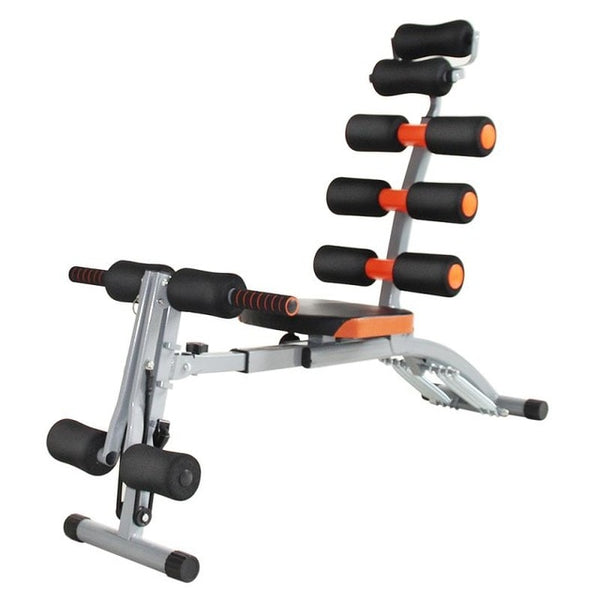 6-in-1 Mutifunctional Adjustable Sit Up Bench Cycling Bike Bench-Crunch Push Up Board Abdominal Bench Unisex Home Gym HWC