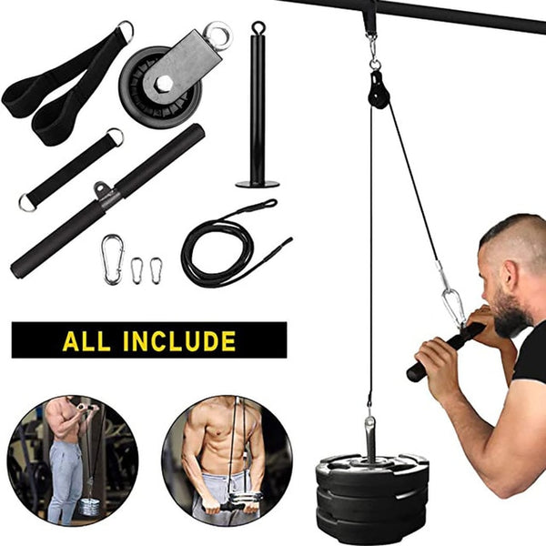 9PC Indoor And Outdoor Lifting Forearm Arm Strength Fitness Equipment Hand Training Equipment Polea Gimnasio Arm Blaster
