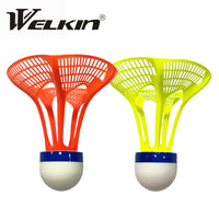 New Original WELKIN AirShuttle Outdoor Badminton AirShuttle Plastic Ball Nylon Shuttlecock Ball Stable Resistance 3pcs/Pack