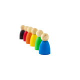 Kit 6 monitos de colores