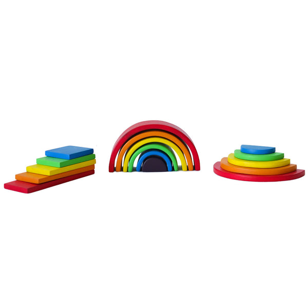 Kit Arco Iris Waldorf Mini de colores