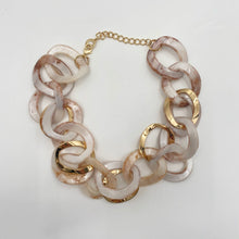 Load image into Gallery viewer, Pearl & Gold Link Necklace