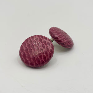 Burgundy Eel Earrings