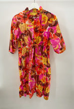 Load image into Gallery viewer, Ruffle Neck Floral Dress