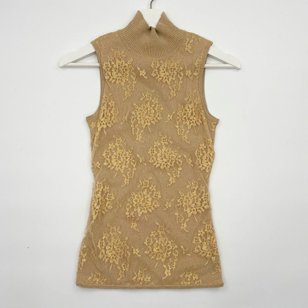 Gold Lace Top