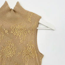 Load image into Gallery viewer, Gold Lace Top