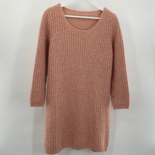 Load image into Gallery viewer, Pink Beige Sweater Dress
