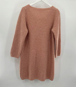 Pink Beige Sweater Dress