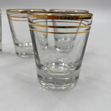 Load image into Gallery viewer, Gold Rimmed Shot Glasses
