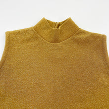Load image into Gallery viewer, Gold Sleeveless Top