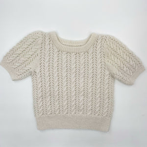 Hand Knit White Sweater