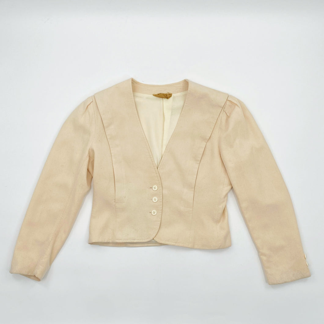 Cream Silk Blazer