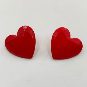 Faceted Heart Earrings