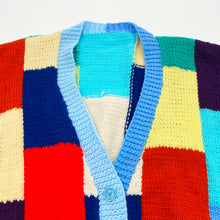 Load image into Gallery viewer, Patchwork Knit Cardigan