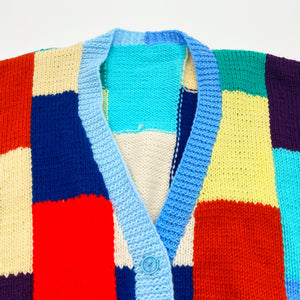 Patchwork Knit Cardigan