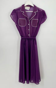 Vintage Leslie Belle Purple Dot Dress