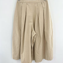 Load image into Gallery viewer, Khaki Linen Culottes