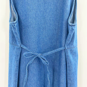 Vintage 90's Tie Back Denim Dress