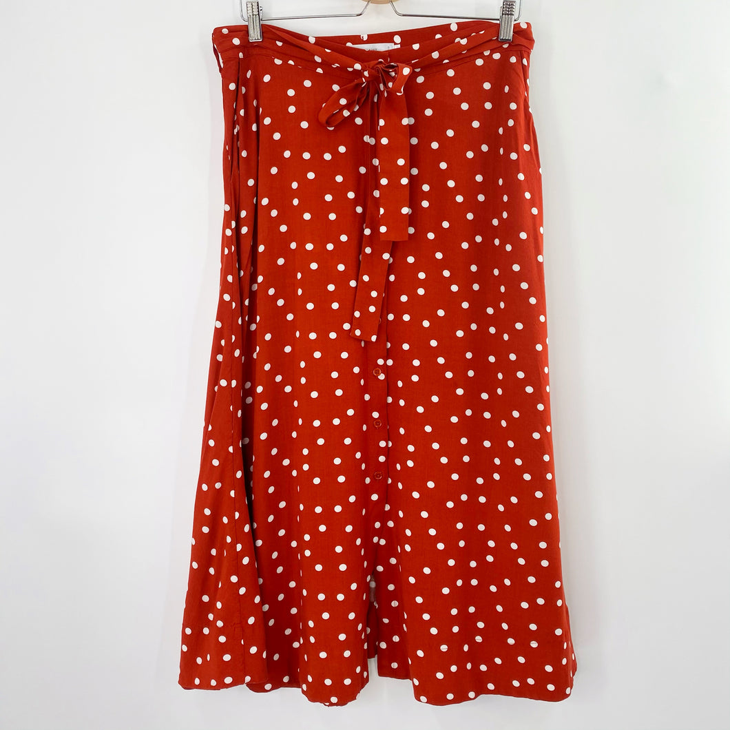 Rust Polka Dot Skirt