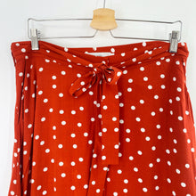 Load image into Gallery viewer, Rust Polka Dot Skirt