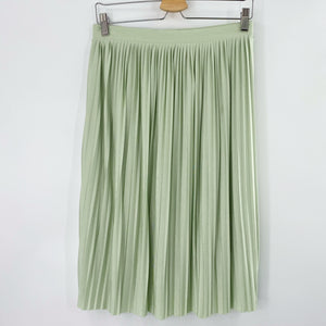 Mint Shimmer Pleated Skirt