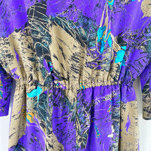 Load image into Gallery viewer, Vintage D'Alliard's Purple Orchid Dress