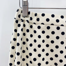 Load image into Gallery viewer, B&W Polka Dot Pencil Skirt