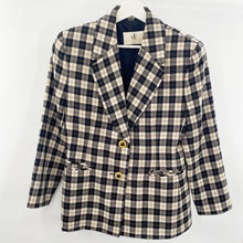 Load image into Gallery viewer, Devonshire Cream Plaid Blazer